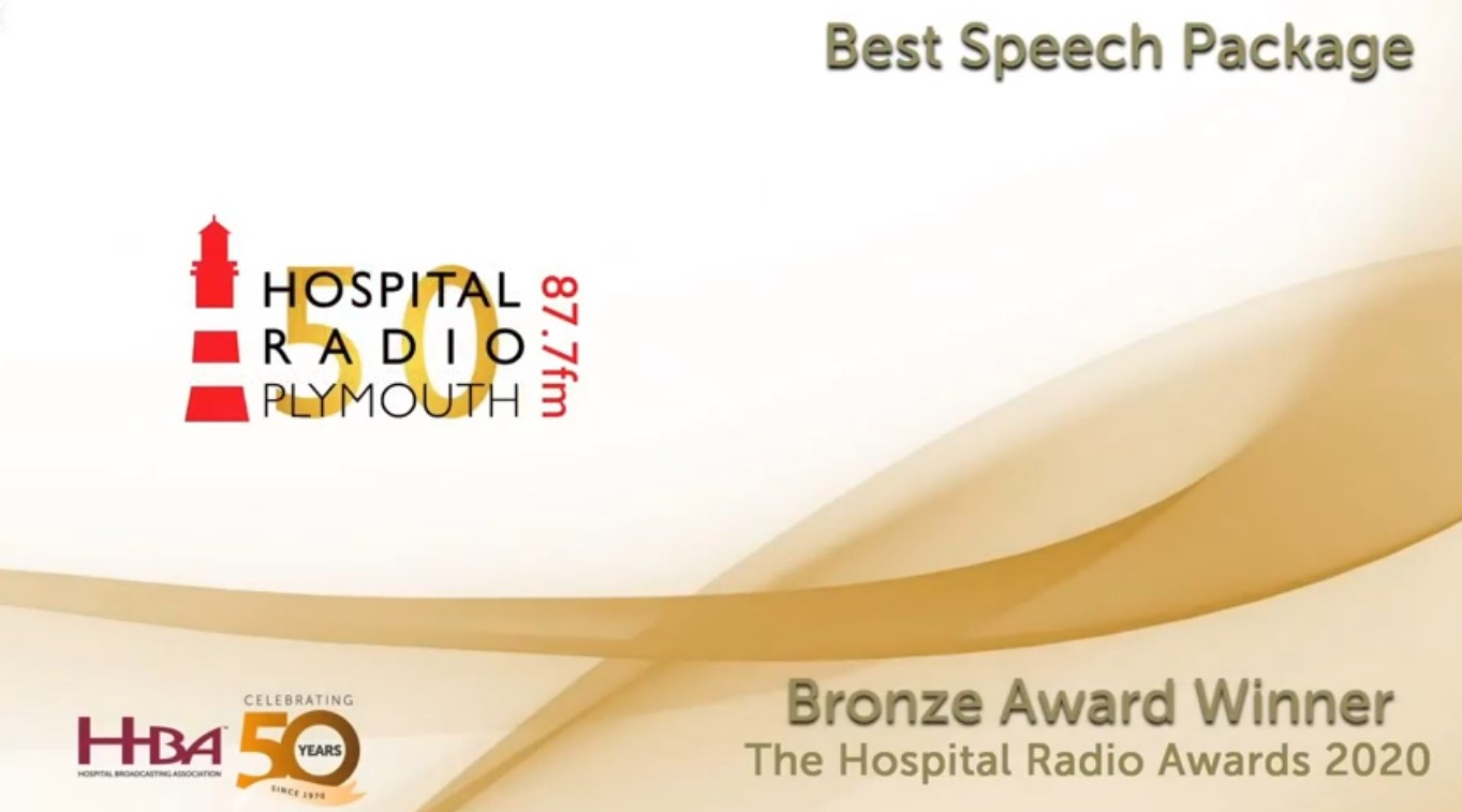 Hospital Radio Plymouth Bronze Award for Best Speech Package